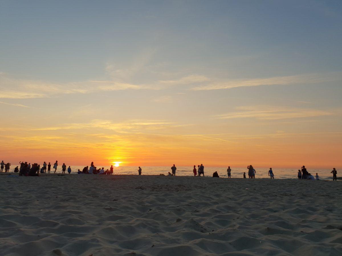 Zachód słońca Międzywodzie