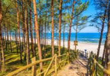 Spokojna plaża Bałtyk