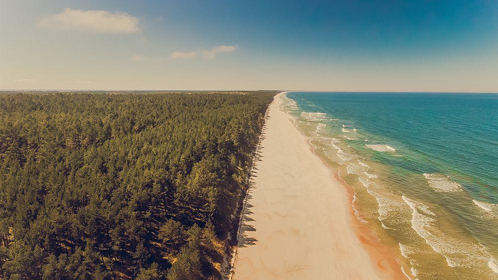 Morze Bałtyckie, las i plaża, Kąty rybackie plaża