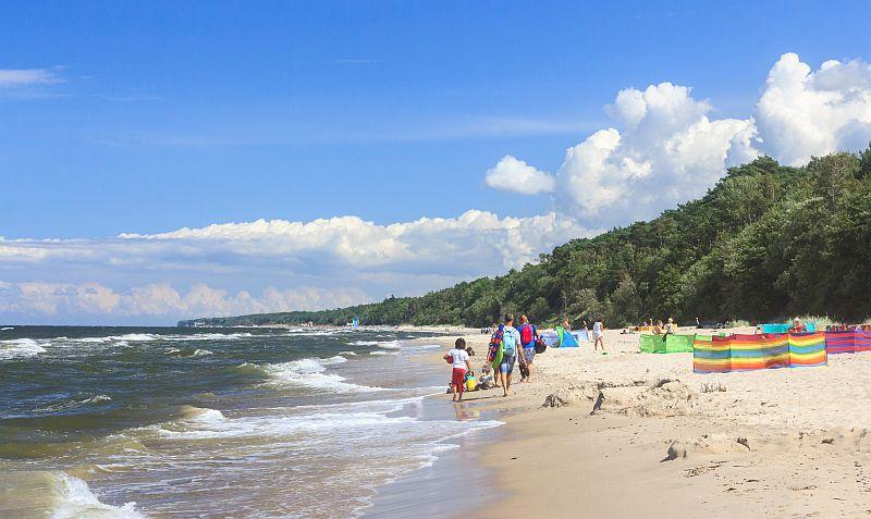 Morze i plaża nad Bałtykiem, Łukęcin plaża, Łukęcin noclegi,