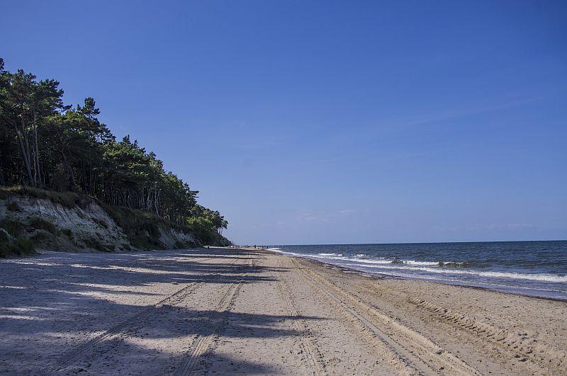 plaża w Pleśnej, Plaża nad Bałtykiem